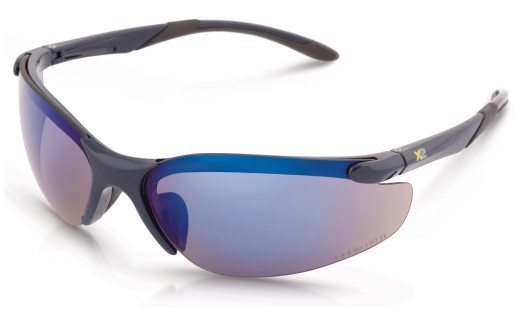 PPE Safety Sunglasses Xcess Blue Mirrored