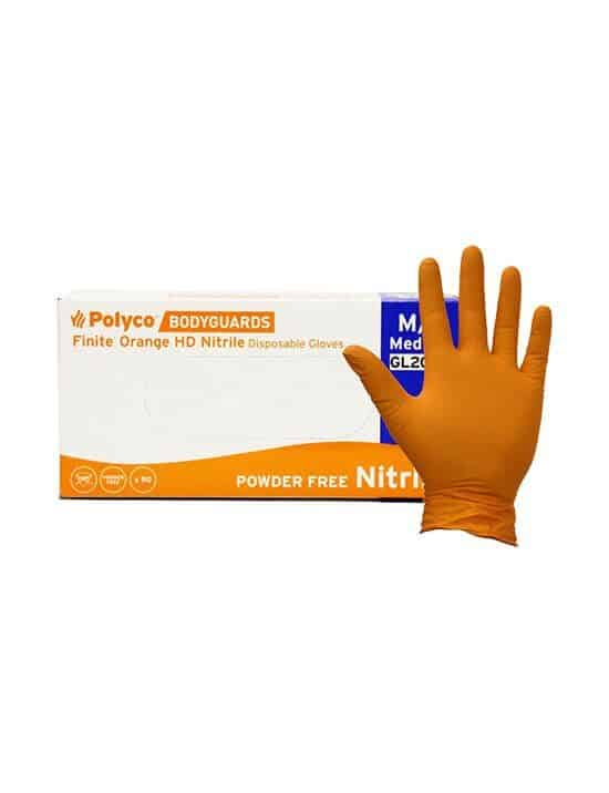 BodyGuards Finite Nitrile Latex Powder Powder Free Medical Industrial Gloves