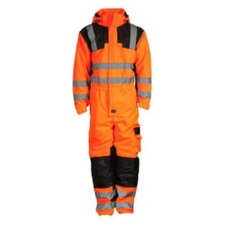 hi vis waterproof breathable thermal coverall high visibility workwear rail