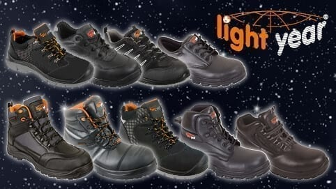 Lightyear safety footwear with boots shoes and trainers