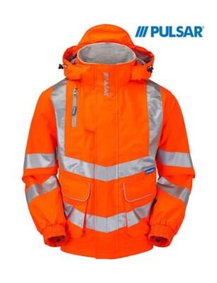 Pulsar® Padded Yellow Hi Vis Bomber Jacket