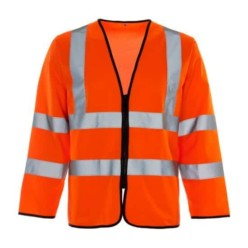 Hi Vis Long Sleeve Zipped Waistcoat