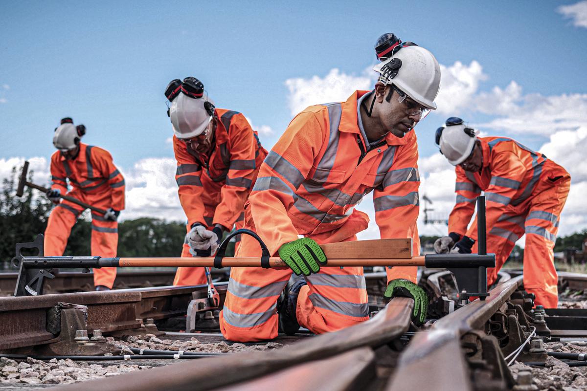 industry workwear and ppe Our Industries rail hi vis orange
